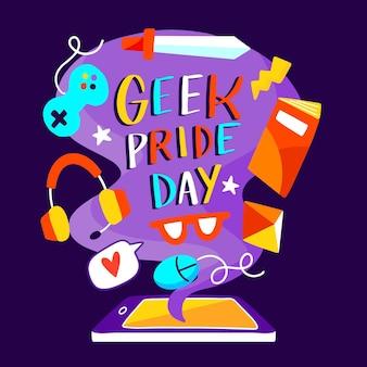 Ilustração desenhada à mão para o dia do orgulho geek