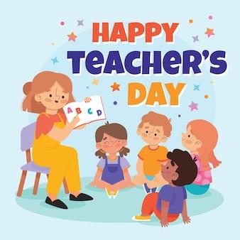 Ilustração desenhada à mão para o dia dos professores.
