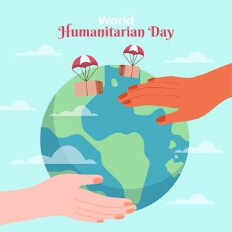 Ilustração desenhada à mão para o dia humanitário mundial