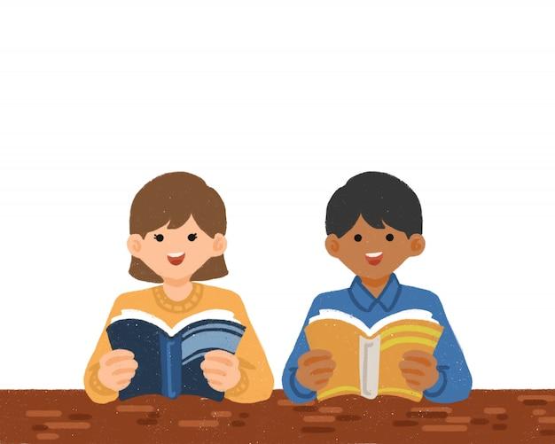Ilustração desenhada à mão para o dia internacional da alfabetização