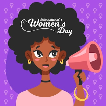Ilustração desenhada à mão para o dia internacional da mulher