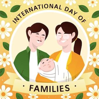Ilustração desenhada à mão para o dia internacional das famílias