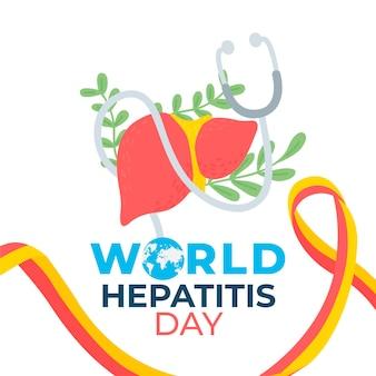 Ilustração desenhada à mão para o dia mundial da hepatite