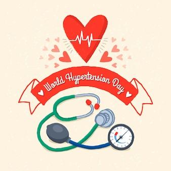 Ilustração desenhada à mão para o dia mundial da hipertensão