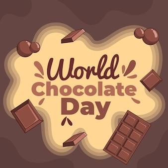 Ilustração desenhada à mão para o dia mundial do chocolate