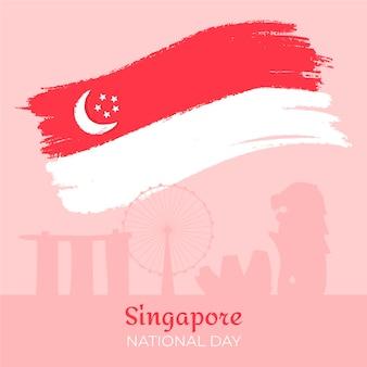Ilustração desenhada à mão para o dia nacional de singapura
