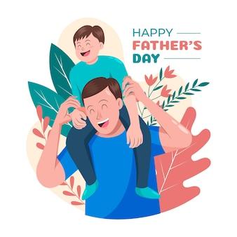 Ilustração desenhada à mão para o feliz dia dos pais