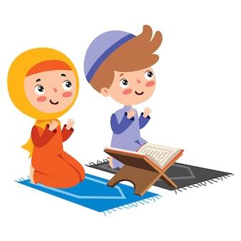 Ilustração desenhada à mão para o ramadã kareem e a cultura islâmica Vetor Premium