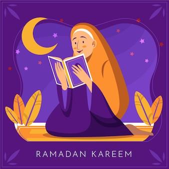 Ilustração desenhada à mão para o ramadã