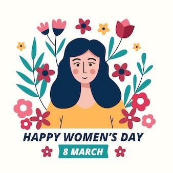 Ilustração desenhada do dia internacional da mulher