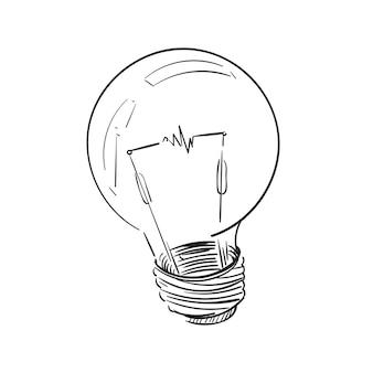 Ilustração, desenho, de, bulbo leve