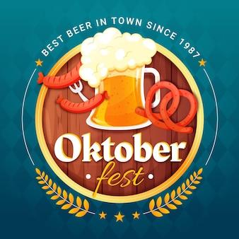 Ilustração detalhada da oktoberfest