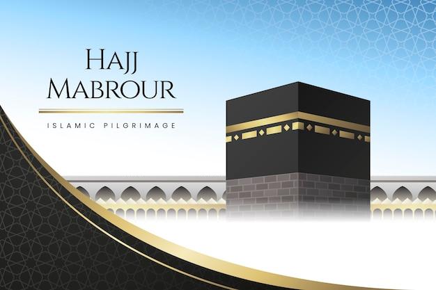 Ilustração detalhada da peregrinação islâmica hajj