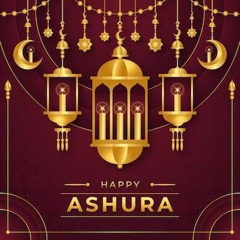 Ilustração detalhada de ashura