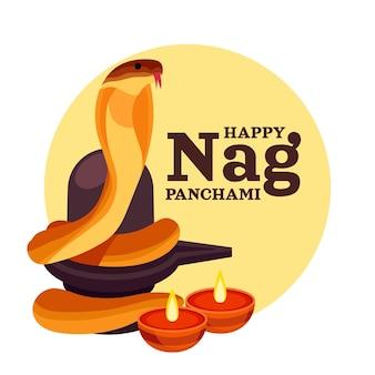 Ilustração detalhada de nag panchami
