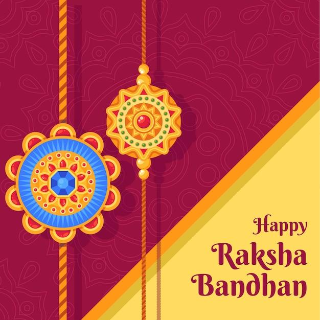 Ilustração detalhada de raksha bandhan