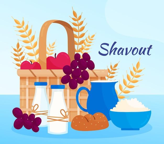 Ilustração detalhada de shavout