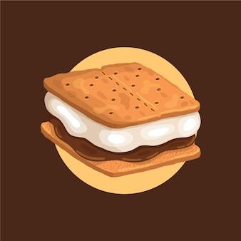 Ilustração detalhada de sweet s'more
