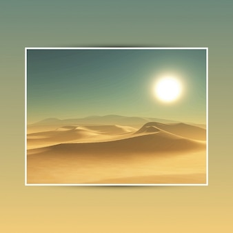 Ilustração detalhada de um fundo do deserto