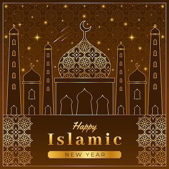 Ilustração detalhada do ano novo islâmico