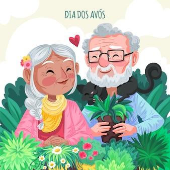 Ilustração detalhada do dia dos avos