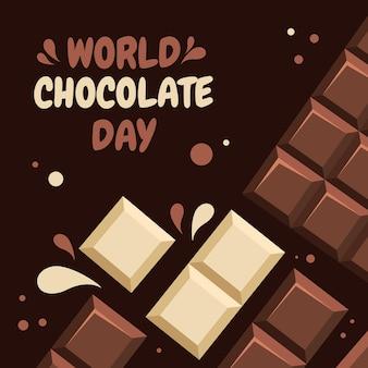 Ilustração detalhada do dia mundial do chocolate