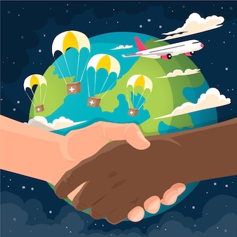 Ilustração detalhada do dia mundial humanitário