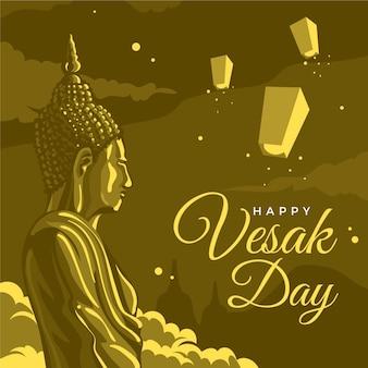 Ilustração detalhada do dia vesak