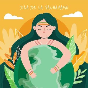 Ilustração dia de la pachamama