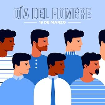 Ilustração dia del hombre em design plano