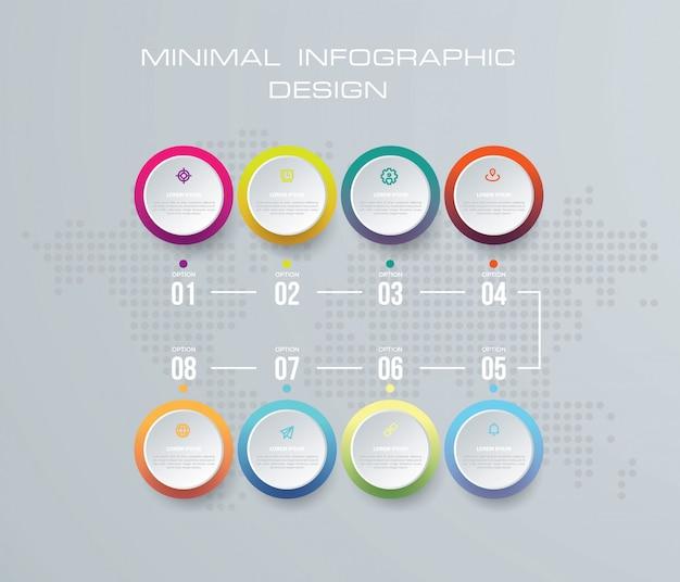 Ilustração digital 3d abstrata infographic.