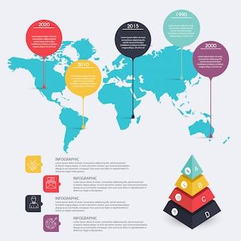 Ilustração digital abstrata infográfico. ilustração