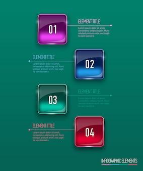 Ilustração digital abstrata infográfico.