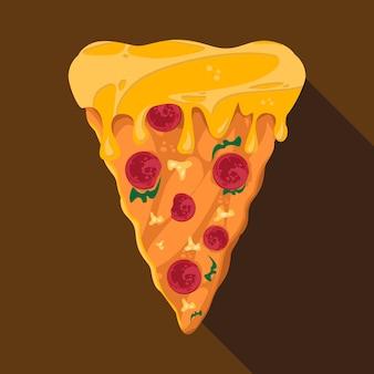 Ilustração digital de fatia de pizza