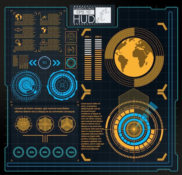 Ilustração digital infográfico colorida. infográfico criativo de tema de painel