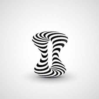 Ilustração dinâmica abstrata, arte 3d preto e branco, ilustração de onda futurista