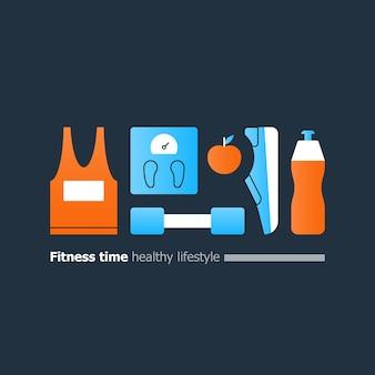 Ilustração divertida de fitness