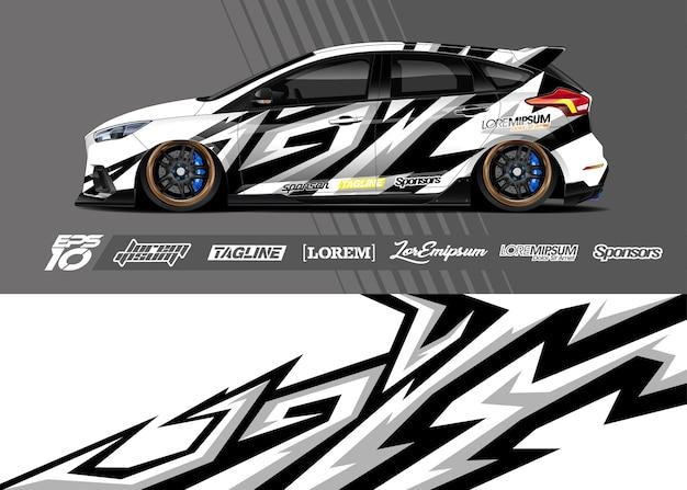 Ilustração do adesivo do carro esporte