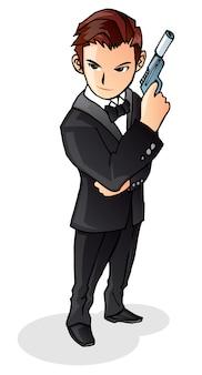 Ilustração do agente secreto do fbi