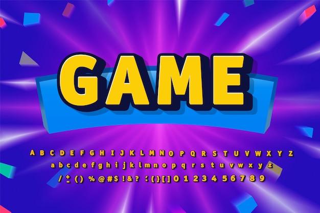 Ilustração do alfabeto do jogo
