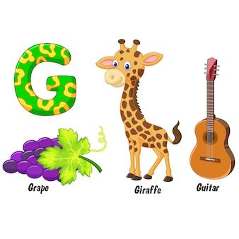Ilustração do alfabeto g