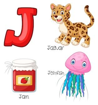 Ilustração do alfabeto j