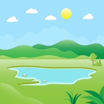 Ilustração do ambiente natural