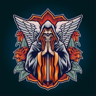 Ilustração do anjo da morte