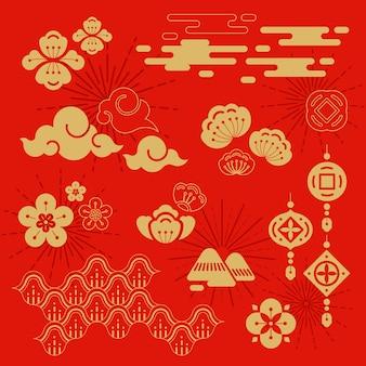 Ilustração do ano novo chinês