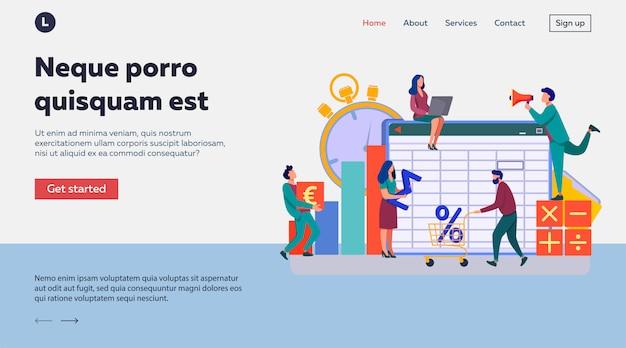 Ilustração do aplicativo de contabilidade