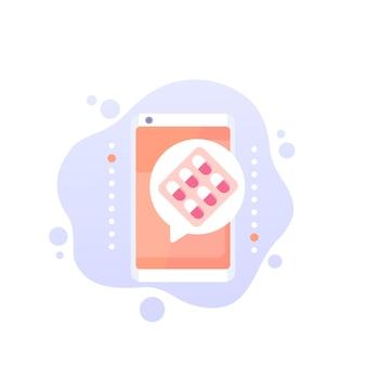 Ilustração do aplicativo de lembrete de pílula