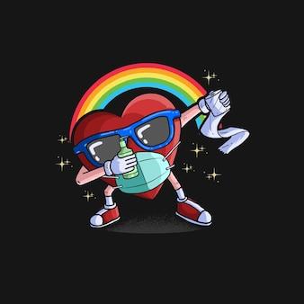 Ilustração do arco-íris do símbolo do ícone dos namorados
