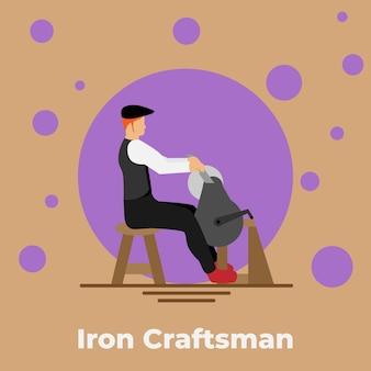 Ilustração do artesão de ferro