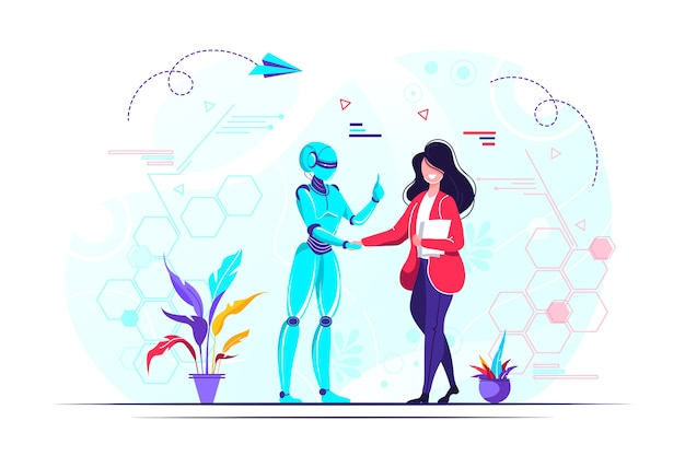 Ilustração do avanço da tecnologia